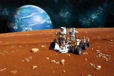 Plakat Two Man Rover - Elementy tego zdjęcia dostarczone przez NASA
