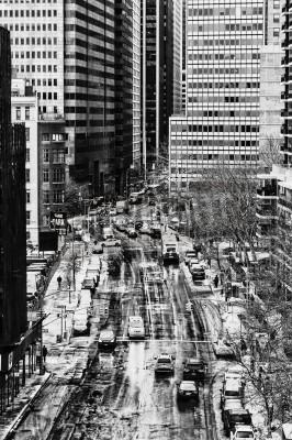 Plakat Typowa scena Ulica Nowy Jork, USA