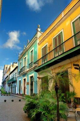 Plakat typowa stara architektura Havana