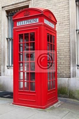 Plakat Typowy czerwony London phone booth