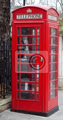 Plakat Typowy London red phone booth