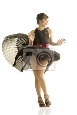 Plakat Tytuł: Marilyn Monroe Styl Opis: strzały mody wiatr wieje w górę spódnicę modelu