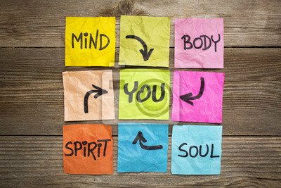 Plakat Umysł, ciało, duch, dusza i