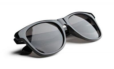 Plakat Unisex dark sunglasses isolated on white background