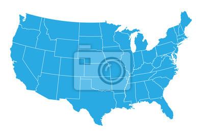 Plakat United States of American mapę
