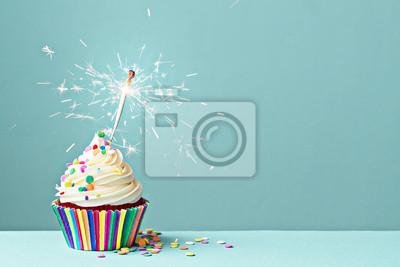 Plakat Uroczystość cupcake z brylant