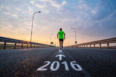 Plakat Uruchom w nowym roku 2016