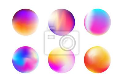 Plakat Ustaw gradientową kulę w modnym stylu
