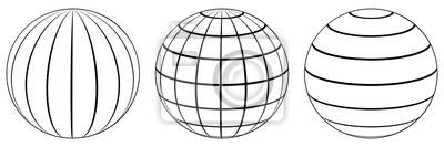 Plakat Ustaw kuli ziemskiej kuli ziemskiej siatki, szerokości geograficznej