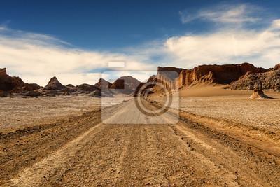 Plakat Valle de la Luna w pustyni Atacama, Chile, 2013