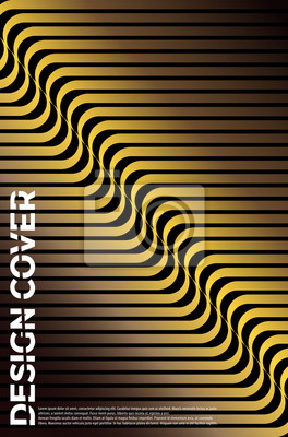 Vector Geometric Abstract Line Pattern for Poster Design.