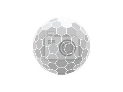 Plakat vector illustration of a honeycomb hexagon sphere isolated on white