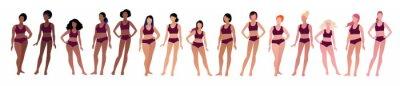 Plakat Vector illustration set of female characters