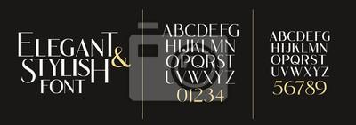 Plakat vector illustration. Stylish elegant vector composite font. set of letters english