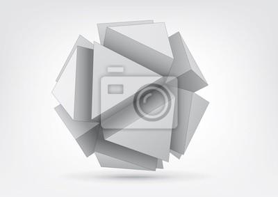 Vector polyhedron z trójkątnymi wytłaczanych twarzy