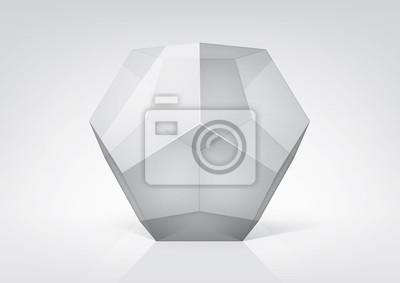 Vector przejrzysty dodecahedron do projektowania graficznego