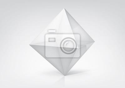 Plakat Vector przejrzysty octahedron do projektowania graficznego