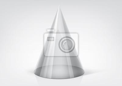 Vector przejrzysty stożek do projektowania graficznego
