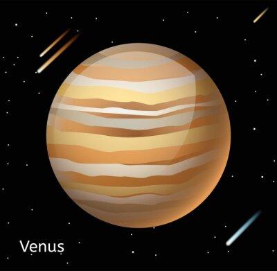 Plakat Venus planeta 3d ilustracji wektorowych