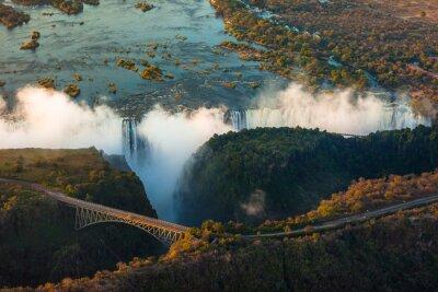 Plakat Victoria Falls z powietrza