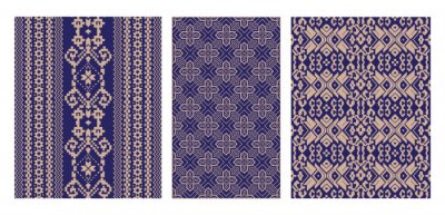 Plakat  Vietnamese brocade pattern (1)