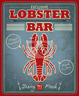 Vintage bar homara projekt plakatu