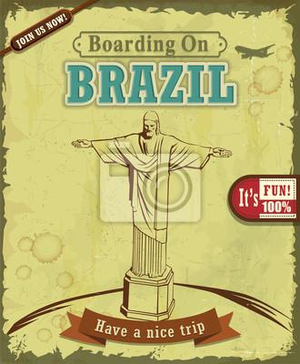 Vintage Brazylia Podróż plakat projekt
