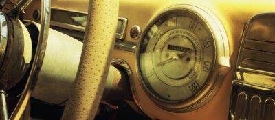 Plakat Vintage car dashboard  (fragment)