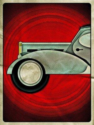 Plakat Vintage car poster