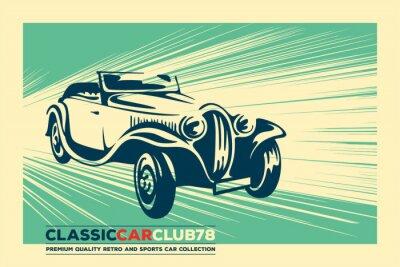 Plakat Vintage car. Retro car. Classic car poster.
