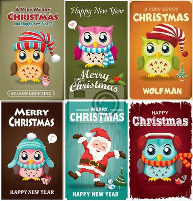Vintage Christmas poster scenografia