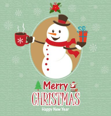 Vintage Christmas projektowania plakatu