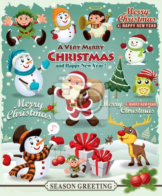 Vintage Christmas projektu plakatu Element projektu Christmas