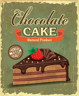 Vintage ciasto czekoladowe projekt plakatu