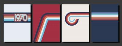 Plakat Vintage Color Lines 1970s Style