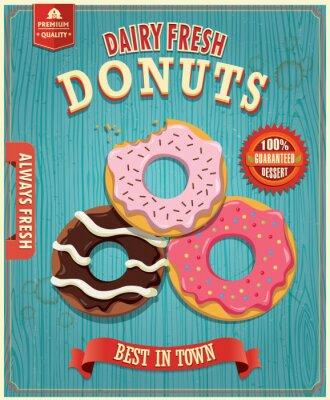 Vintage donut poster design
