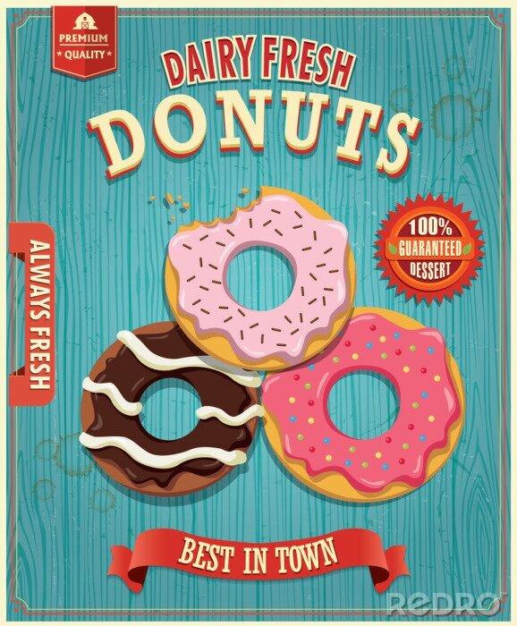 Plakat Vintage donut poster design