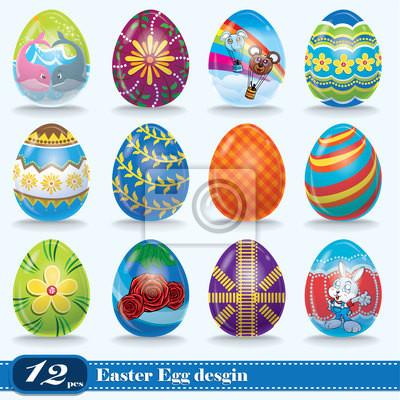 Plakat Vintage easter egg scenografia