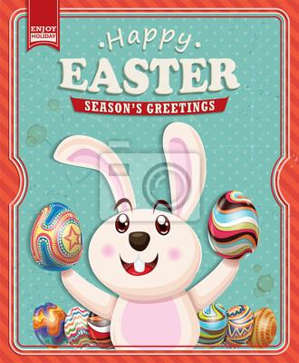 Plakat Vintage Easter poster design