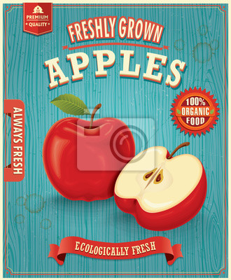 Vintage farm fresh apple design