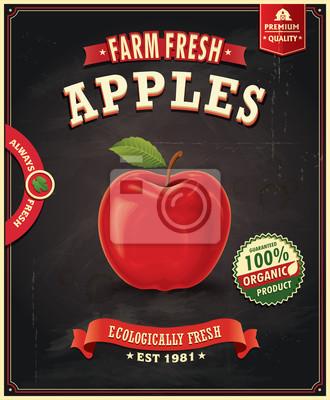 Vintage Farm Fresh Apple projektowania plakatu