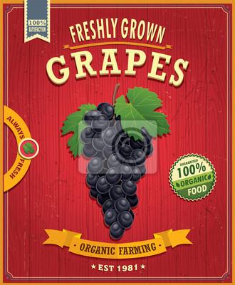 Vintage farm fresh grapes design
