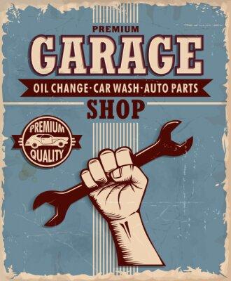 Plakat Vintage Garage poster design