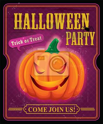 Vintage halloween party plakat projekt