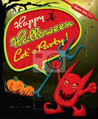 Vintage Halloween plakat projekt