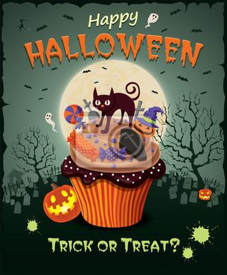 Plakat Vintage Halloween plakat projekt
