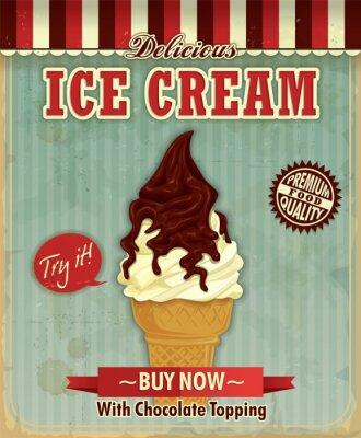 Vintage lody projekt plakatu