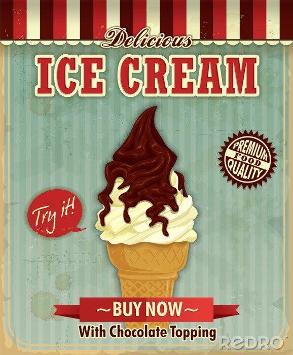 Plakat Vintage lody projekt plakatu