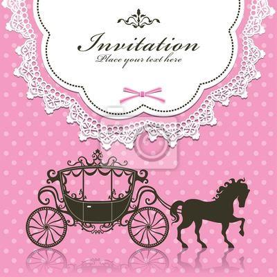 Plakat Vintage Luxury Zaproszenie konstrukcja karetki