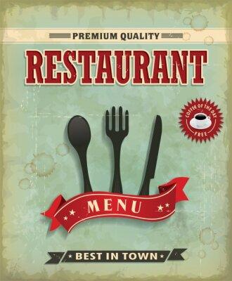 Vintage menu Food projekt plakatu